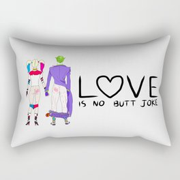 LOVE is no BUTT Joke - Handwritten Rectangular Pillow
