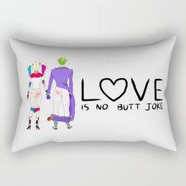 LOVE is no BUTT Joke - Handwritten Rectangular Pillow