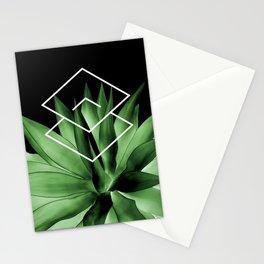 Agave geometrics III Stationery Cards