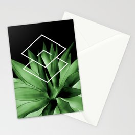 Agave geometrics III Stationery Cards