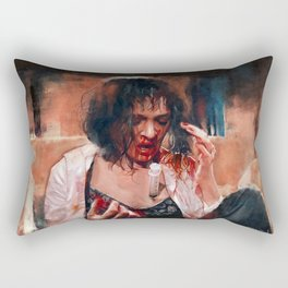 Adrenaline Shot - Mia Wallace - Pulp Fiction Rectangular Pillow