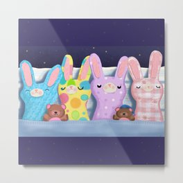 Very Sleepy Bunnies Metal Print