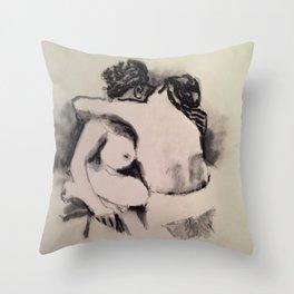 Victorian Ladies Nude Throw Pillow