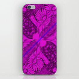 Diagonal Abstract Psychedelic Doodle 10 iPhone Skin