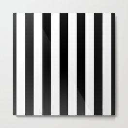 Stripes Black And White Metal Print
