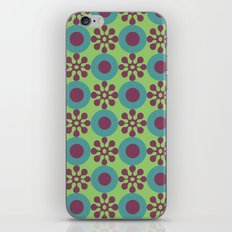 Retro Modern Flower Power iPhone Skin