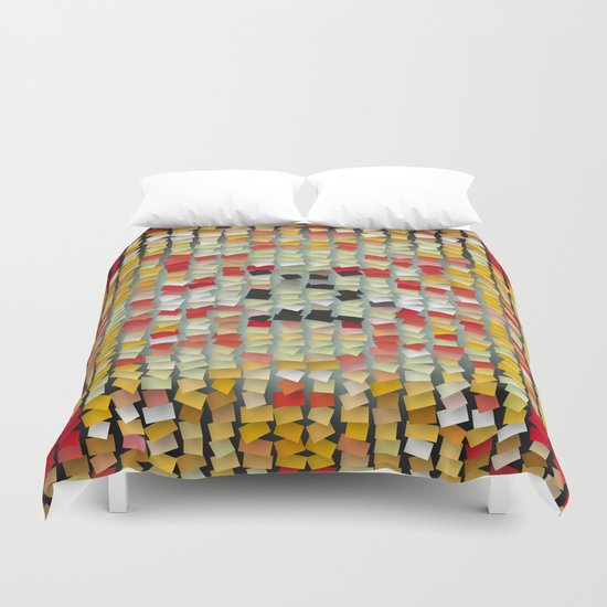 colored notes Duvet Cover