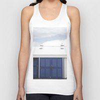 doors Tank Tops featuring Blue Doors by Rachelvb