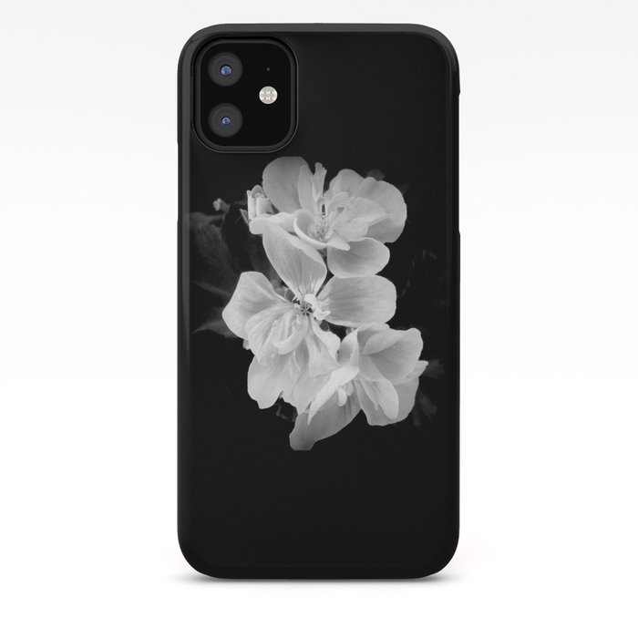 geranium in bw iPhone Case