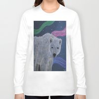 polar bear Long Sleeve T-shirts featuring Polar Bear by Renee Trudell