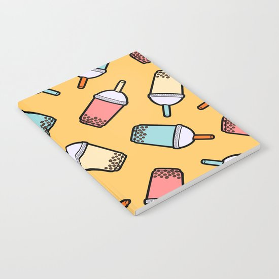 Bubble Tea Pattern Notebook
