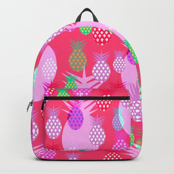 Pink tropical pineapples Backpack