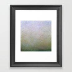 Hazy Green Landscape Framed Art Print