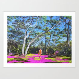 Beck in the Bush Art Print