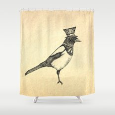 Hello Mister Magpie Shower Curtain
