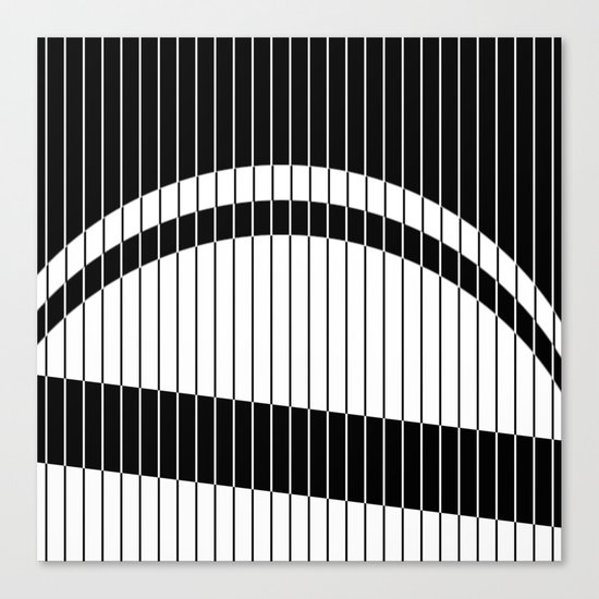 Colour Blind (Abstract, minimalistic black and white) Canvas Print