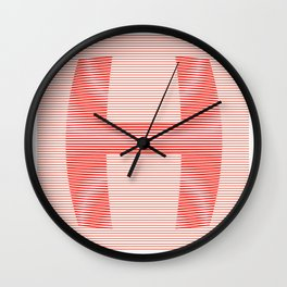 H from 36 Days of Type | 2016 Wall Clock