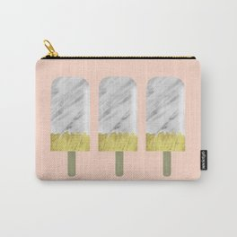 Carrara Italian Marble with Gold Popsicle Carry-All Pouch