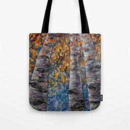Aspen Trees by OLena Art Tote Bag
