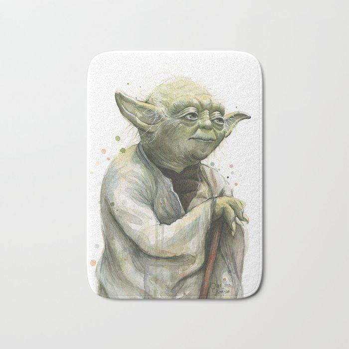 Yoda Jedi Portrait Sci-Fi Bath Mat