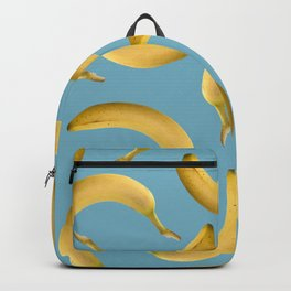 Bananas Pattern - turquoise Backpack