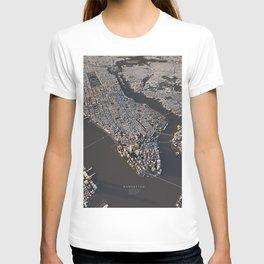 Manhattan - city map T-shirt