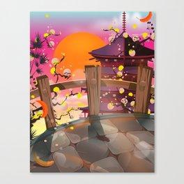 Japan garden Canvas Print