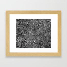 Abstract fancy grey black white design Framed Art Print