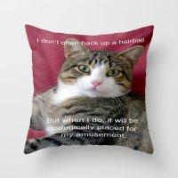 meme Throw Pillows featuring TJ Meme by Frankie Cat