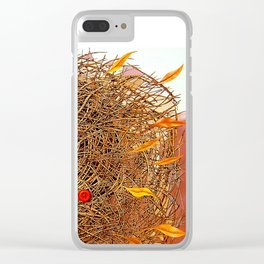 Golden with red. Nest Clear iPhone Case