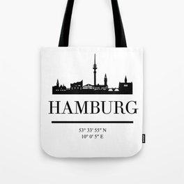 HAMBURG GERMANY BLACK SILHOUETTE SKYLINE ART Tote Bag