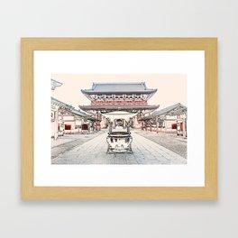 Senso-Ji temple ArtWork Tokyo Japan Framed Art Print