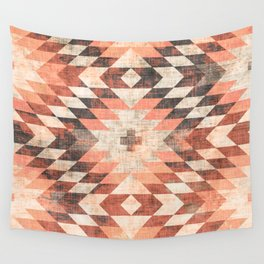 native coral diamond Wall Tapestry