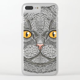 Scottish Fold cat Clear iPhone Case