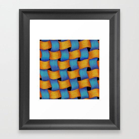Woven - Pattern Painting Framed Art Print