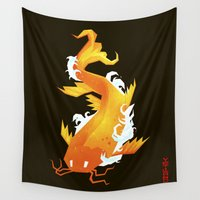 yetiland Wall Tapestries featuring Carp II by Yetiland