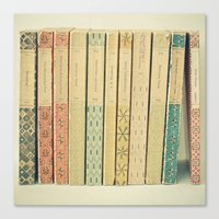 pastel Canvas Prints featuring Old Books by Cassia Beck