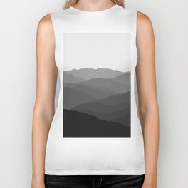 Shades of Grey Mountains Biker Tank