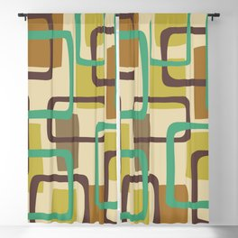 Mid Century Modern Overlapping Squares Pattern 127 Blackout Curtain