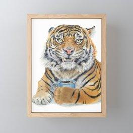 Too Early Tiger Framed Mini Art Print
