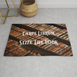 Carpe Librum Seize the Book Rug