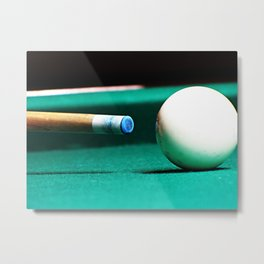 Pool Table-Green Metal Print