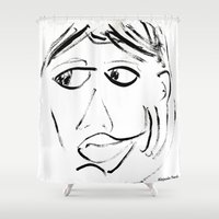 shameless Shower Curtains featuring Alejandra Pizarnik by La Vida Secreta