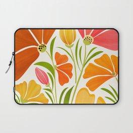 Spring Wildflowers / Floral Illustration Laptop Sleeve