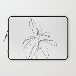 Flora - minimal line drawing Laptop Sleeve
