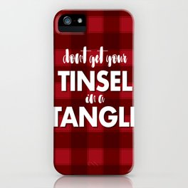 TANGLED TINSEL iPhone Case