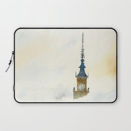 Palace of Culture in clouds Warsaw Laptop Sleeve