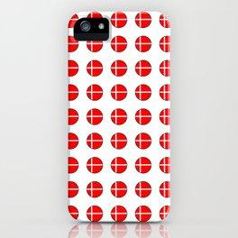 Flag of Denmark 4-danmark,danish,jutland,scandinavian,danmark,copenhagen,kobenhavn,dansk iPhone Case