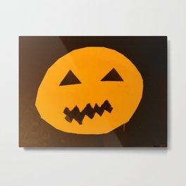 Halloween holiday day carved pumpkin Metal Print