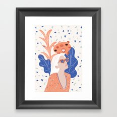 Thinkin About Kissin You Framed Art Print